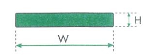 ghidaj din polietilena pentru benzi plane -rectangular
