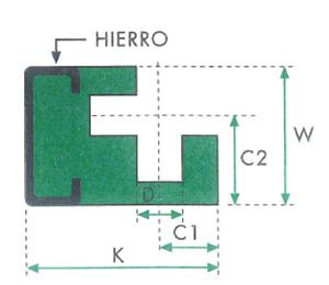 ghidaj polietilena profil REC pentru conectarea lanturilor