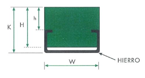 Ghidaj din polietilena Profil HCG pentru curea plana cu profil metalic incorporat